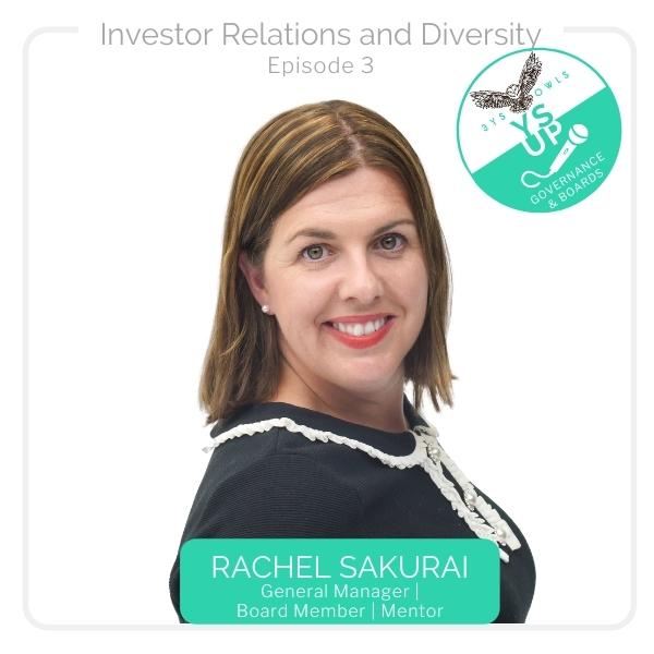 Investor Relations & Diversity with Rachel Sakurai