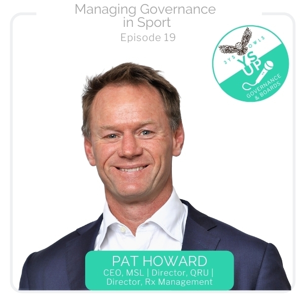 Managing Governance in Sport with Pat Howard